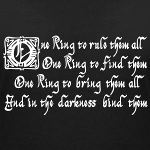 One Ring to rule them all T-shirts - Vrouwen T-shirt met V-hals