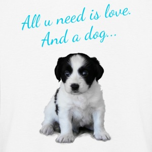 Süßer Hund, Hundesprüche - All u need is love Langarmshirts - Kinder Premium Langarmshirt