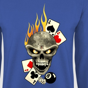 Poker Skull Flaming Hoodies & Sweatshirts - Men's Sweatshirt