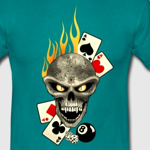 Poker Skull Flaming Tee shirts - T-shirt Homme