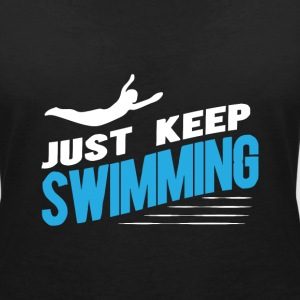 Swimmer T-Shirts - Women's V-Neck T-Shirt