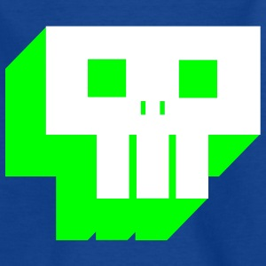 Royalblau pixel_skull_2C1 Kinder T-Shirts - Teenager T-Shirt