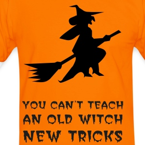 OLD WITCH NEW TRICKS HALLOWEEN T-Shirt - Men's Ringer Shirt