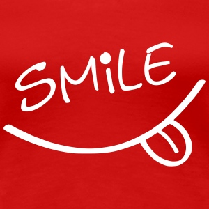Smile, please - Premium-T-shirt dam