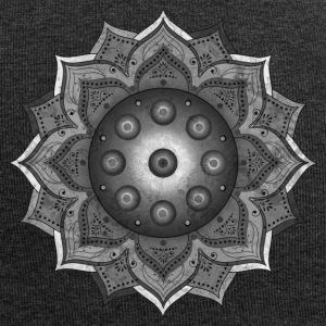Handpan - Hang Drum Mandala grey - Jersey-Beanie