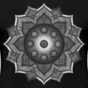 Handpan - Hang Drum Mandala grey - Frauen Premium T-Shirt