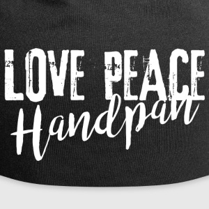 LOVE PEACE Handpan white - Jersey-Beanie