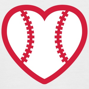Baseball Softball Heart T-Shirts - Men's Baseball T-Shirt