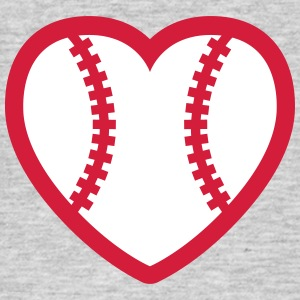 Baseball Softball Heart T-shirts - Mannen T-shirt