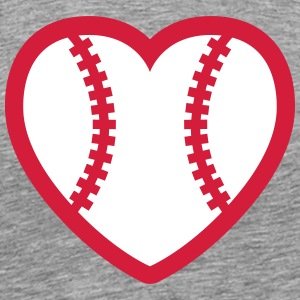 Baseball Softball Heart T-Shirts - Men's Premium T-Shirt
