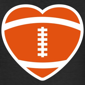 Football Rugby Heart T-shirts - Herre Slim Fit T-Shirt