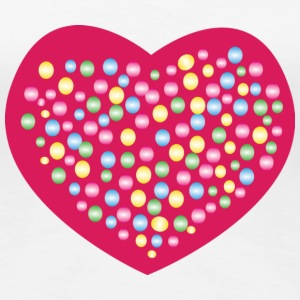 Heart Bubbles T-Shirts - Frauen Premium T-Shirt