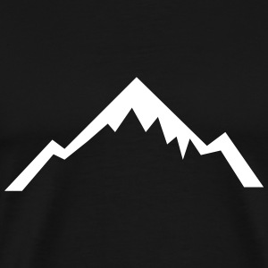 Mountain, Hiking, Outdoor T-shirts - Herre premium T-shirt