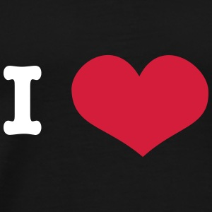 I Love ... (insert own text) T-Shirts - Männer Premium T-Shirt
