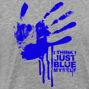 Arrested Development Just Blue Myself Quote - Premium T-skjorte for menn