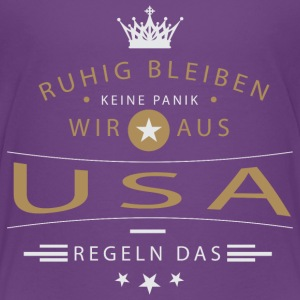Ruhig bleiben USA T-Shirts - Teenager Premium T-Shirt