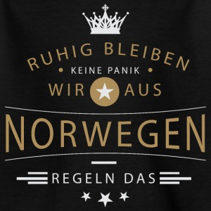Ruhig bleiben Norwegen T-Shirts - Teenager T-Shirt