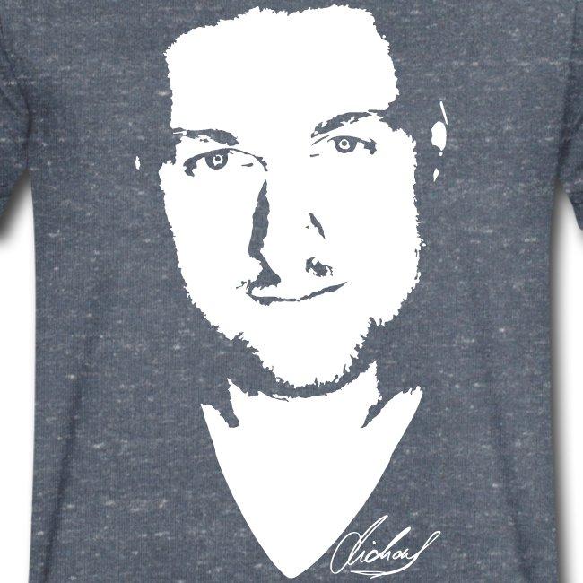 MF T-Shirt V - logo/weiss