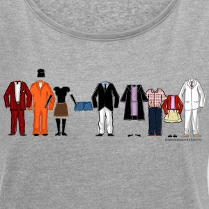Arrested Development Bluth Family Lineup - T-shirt med upprullade ärmar dam