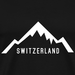 Switzerland Alps T-shirts - Herre premium T-shirt