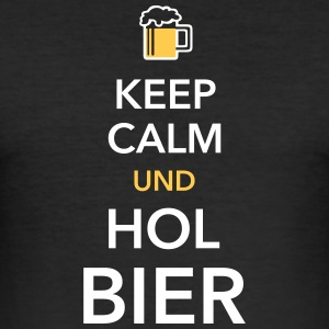 Keep calm und hol Bier Bierkasten Grillparty Wiesn - Männer Slim Fit T-Shirt