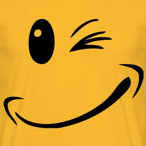 Smiley Winky Face - T-shirt Homme