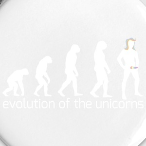 evolution of the unicorns Buttons & Anstecker - Buttons klein 25 mm
