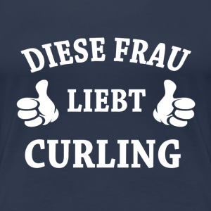 CURLING T-Shirts - Frauen Premium T-Shirt