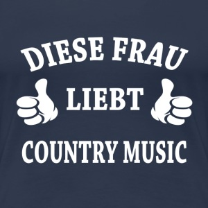 COUNTRY MUSIC T-Shirts - Frauen Premium T-Shirt