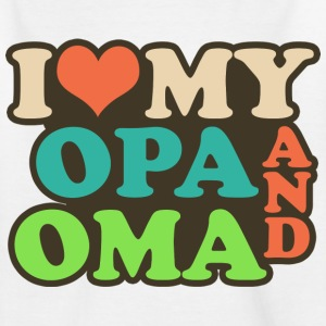 i love my opa and oma T-Shirts - Kinder T-Shirt