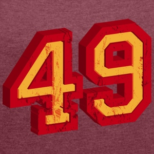 Number 49 3D T-Shirts - Women's T-shirt with rolled up sleeves