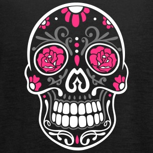Traditional Mexican sugar skull, day of the dead. Tops - Women's Tank Top by Bella