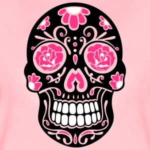 Traditional Mexican sugar skull, day of the dead. T-Shirts - Women's Premium T-Shirt