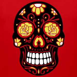 Traditional Mexican sugar skull, day of the dead. Sports wear - Men's Premium Tank Top