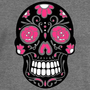 Traditional Mexican sugar skull, day of the dead. Hoodies & Sweatshirts - Women's Boat Neck Long Sleeve Top