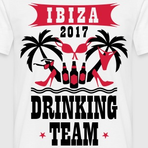 Ibiza 2017 Drinking Team Palm Beach Sex Beer T-Shi - Männer T-Shirt