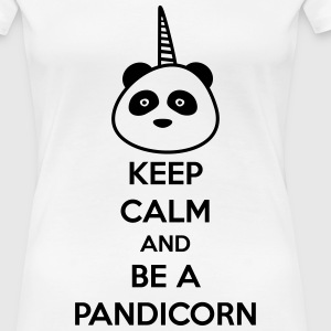 Keep calm and be a pandicorn,panda,licorne - T-shirt Premium Femme
