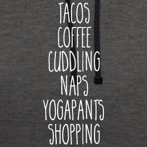 Tacos & Coffee Funny Quote Hoodies & Sweatshirts - Contrast Colour Hoodie