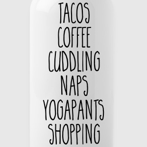 Tacos & Coffee Funny Quote Bouteilles et Tasses - Gourde