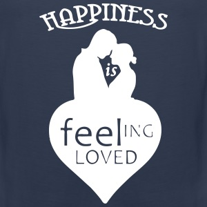 Happiness is - feeling loved Sportbekleidung - Männer Premium Tank Top