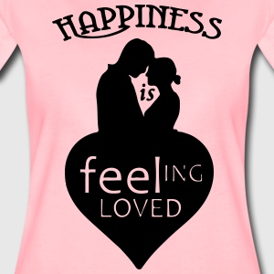 Happiness is - feeling loved T-Shirts - Frauen Premium T-Shirt