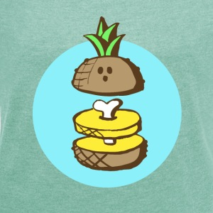 Ananas to the bone T-Shirts - Frauen T-Shirt mit gerollten Ärmeln