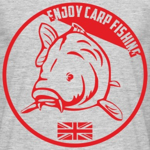 red-enjoy-carp-fishing.png Tee shirts - T-shirt Homme