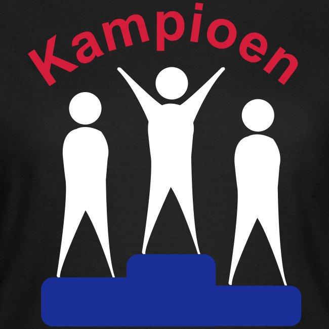 Kampioen dames t-shirt