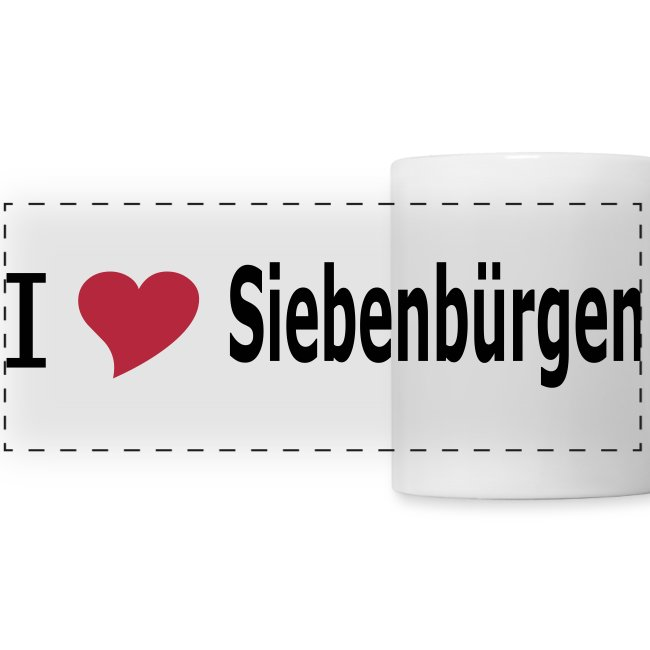 "Kaffeepott  ""I love Siebenbürgen"" - Siebenbürgen - Transylvania - Erdely - Ardeal"