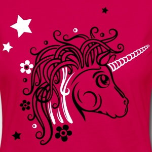 Colorful unicorn with stars and flowers Long Sleeve Shirts - Women's Premium Longsleeve Shirt