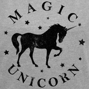 MAGIC UNICORN T-Shirts - Women's T-shirt with rolled up sleeves