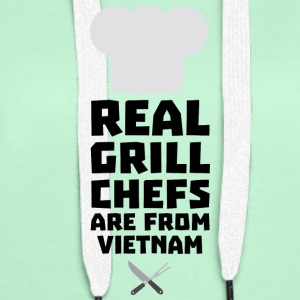 Real Grill Chefs are from Vietnam S4v51 Hoodies & Sweatshirts - Women's Premium Hoodie