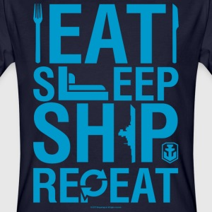 EatSleepShip Collection - Men's T-Shirt - T-shirt bio Homme