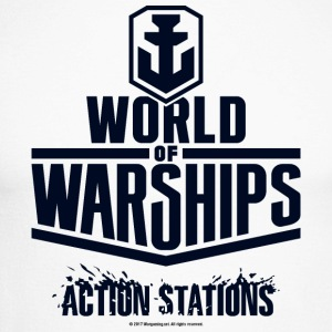 World of Warships Black Logo Collection - Longarms - Langermet baseball-skjorte for menn